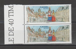 FRANCE / 2019 / Y&T N° 5336 ** : Cassel (Nord) X 2 En Paire Tous BdF G - Gomme D'origine Intacte - France