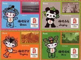 Lote P2008-6b, Peru, 2008,  Juegos Olimpicos De Beijing, Bloque  De 4 Sellos, Sports, Olimpics, Block Of 4 Stamps - Perú