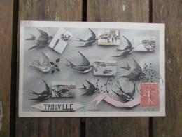CPA 14 TROUVILLE MULTI VUES HIRONDELLES - Trouville