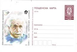 33284. Entero Postal BULGARIA 2005. 50 Aniversario Muerte Albert  EINSTEIN - Enteros Postales