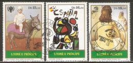 Sao Tome And Principe 1984 Mi# 901-903 Used - Paintings / Picasso / Miro / Salvador Dali - Sao Tome En Principe
