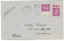 1934- N° 292 DOUMER X 2  BDF  Sur Lettre PAR AVION Pour CASABLANCA MAROC Voir Flamme GOUTEZ LE ....  Voir 2 SCANS - Poststempel (Briefe)