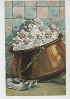 ENFANTS - BEBES - Jolie Carte Fantaisie Bébés Dans Chaudron - Bébés