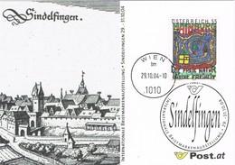 33287. Tarjeta WIEN (Austria) 2004. SINDELFINGEN, Internationalle Briefmarken - 1945-.... 2ª República