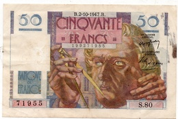 50 Francs Le Verrier - 1947 - 1871-1952 Circulated During XXth