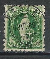 SBK 67B Mi 59XB  O Bodio - 1882-1906 Stemmi, Helvetia Verticalmente & UPU