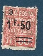 Timbre Neuf *  France, N°61  Yt, Colis Postaux, Valeur Déclarée, 1.50 Sur 50 C ( 3), 1926,  Charnière - Colis Postaux