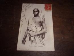 SOUDAN BISKRA NEGRE SOUDANNAIS  ARC FLECHES CARQUOIS 1908 - Sudan
