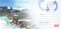 33292. Entero Postal RUMANIA 2009. Antarctica, Antartida. Emil Racovita Expedition - Enteros Postales
