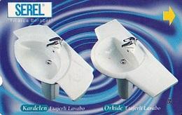 TURQUIE Carte Magnétique Alcatel    Serel Yillarca Beraber Kardelen-orkide Lavabo  100unités De 04.1997 - Turquie