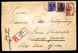 A6242) DR Infla R-Brief Berlin-Schöneberg 30.06.20 N. Farm Waldeshöh / Südwest Afrika - Deutschland