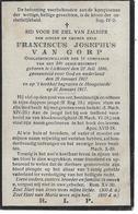 Van Gorp F.j.(gesneuveld -lichtaart 1896 -hoogstade 1917) - Religion & Esotérisme