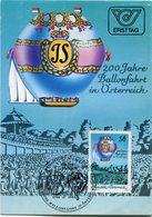 REPUBLIK OSTERREICH,  AUSTRIA - MAXIMUM CARD, 200 JAHRE BALLONFAHRT IN OSTERREICH, YEAR 1984. BALLOON GLOBO  - LILHU - Cartas Máxima