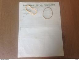 Jumet Brasserie De La Madeleine Facture - 1900 – 1949