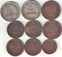 Portugal Collection Of 9 Coins 1917-1940 All Listed & Different - Portugal