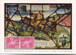 HELVETIA SWITZERLAND - MAXIMUM CARD, VITRAIL REPRESENTANT LE MESSAGER DE ST-GALL LORENZ RUOSCH, YEAR 1960 - LILHU - Cartas Máxima