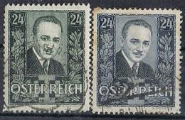 Serie Completa AUSTRIA, , Canciller Dollfuss 1934, Yvert 459-460 º - Usados