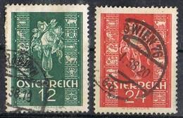 Serie Completa AUSTRIA, , Correspondencia Año Nuevo 1937, Yvert 515-516 º - Usados