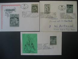 Österreich- 2.11.67, 28.11.68,24.12.1968 FDC Christkindl Mit Weihnachtsmarke - 1945-.... 2ème République