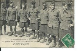 Guerre De 1914- Nantes- Soldats Ecossais Venus En France Pour Combattre Aux Cotés De Nos Pioupious - War 1914-18