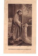 Image Religieuse . Souvenir De Communion  Solennelle. Illustrateur G.Carel - Images Religieuses