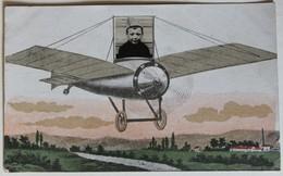 CPA Photo D'enfant Soldat Dans Un Avion Carte à Système Aviation Saint Lubin Des Mauduits Des Joncherets 1920 - Aviation