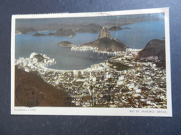 19948) RIO DE JANEIRO THE GUANABARA AT NIGHT VIAGGIATA 1956 - Rio De Janeiro