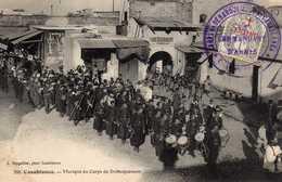 CASABLANCA- 598  2 - Musique Du Corps De Débarquement.1911. Cachet Militaire. - Casablanca