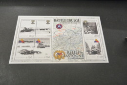 M6562 - Personalised Bloc MNh Guyana 2010 -  World War II - Battle Of Bulge - Relief Of Bastogne - WO2