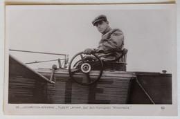 CPA Qualité Photo Aviateur Hubert Latham Sur Son Monoplan Antoinette Locomotion Aérienne Aviation Avion - Aviateurs