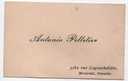 Carte De Visite / Antonio PELLETIER/ Rue Lagauchetiére/Montréal / CANADA/ Vers 1935-50   CDV6 - Autres Collections