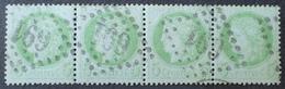 DF40266/74 - CERES (BANDE DE 4 TIMBRES) N°53 - GC 691 : CAEN (Calvados) - 1871-1875 Ceres