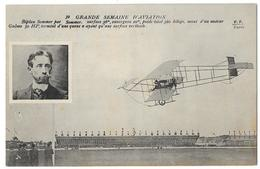 Cpa: AVIATION - Biplan SOMMER Par SOMMER, Moteur Gnôme 50 HP, Grande Semaine D'Aviation N° 39  Ed. F.F. - Aviation