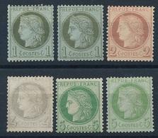 "CV-147: FRANCE: Lot ""CERES"" Neufs *GNO N°50(2)-51-52-53(2) - 1871-1875 Ceres"