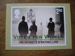 Votes For Women Lone Suffragette In Whitehall C1908, Votes Pour Les Femmes Suffragette Solitaire à Whitehall - Stamps (pictures)