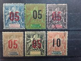 ST SAINT PIERRE ET .MIQUELON,  1912 Type Groupe Surchargé  , Yvert No 96 / 101 , Neufs* / Obl B TB - St.Pierre & Miquelon