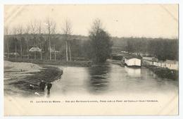 CPA [77] Seine Et Marne > Les Sites Du Morin - Vue Des Bateaux-Lavoirs, Prise Sur Le Pont De Couilly -Saint-Germain - France