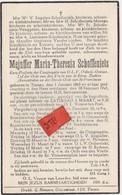 Tienen, Tirlemont, Tirlemont, Doodsprentje Mejuffer Maria Therisia Schoffeniels, 1945! - Obituary Notices
