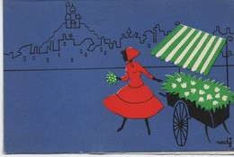 Carte D'evenement/ Fleuriste Des 4 Saisons /Prés Montmartre / Vers 1960-70   CFA29 - Autres