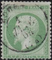 France  .   Yvert    .    20          .   O    .    Oblitéré   .   /   .    Cancelled - 1862 Napoléon III
