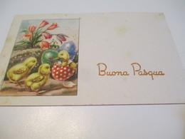 Carte D'evenement/Fêtes De Pâques/ BUENA PASQUA/Italie/Poussins Et Caneton / Vers 1960-70   CFA30 - Autres