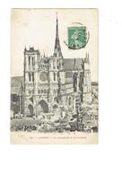 Cpa - 80 - AMIENS - Vue Générale - Cathédrale Travaux échafaudage - 1911 - L. Caron - Amiens