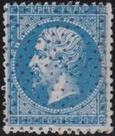 France  .   Yvert    .    22          .   O    .    Oblitéré   .   /   .    Cancelled - 1862 Napoleon III