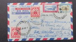 Cover From Apia Western Samoa 1962 To Wallis , On Back Cancellation Mata-Utu And Sent To France - Samoa