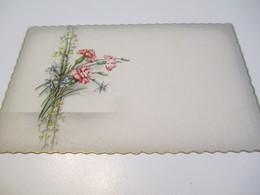 Carte D'evenement/Oeillets / Vierge / à Liseré Doré/  Vers 1960-70   CFA31 - Autres