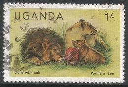 Uganda. 1979 Wildlife. 1/- Used. SG 308A - Uganda (1962-...)