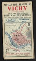 1934 Vichy /  Dépliant Touristique 7 Volets Informations Publicités & Plan De La Ville - Map / BIEN LIRE DESCRIPTIF - Vichy