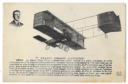Cpa: AVIATION - EFFIMOF Sur Biplan Voisin Frères - Grande Semaine D'Aviation N° 70 - Ed. F.F. - Aviation