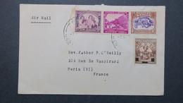 Cover From Samoa To France Paris 1947 - Samoa