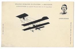 Cpa: AVIATION - LINDPAINTNER Sur Appareil Sommer Dans Un Vol Magnifique - Grande Semaine D'Aviation - Ed. Labaty - Aviation